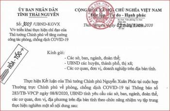 Thái Nguyên tăng cường công tác phòng, chống dịch COVID-19