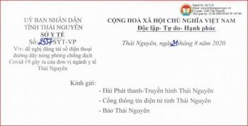 Danh sách số điện thoại đường dây nóng ngành y tế Thái Nguyên phục vụ phòng chống dịch Covid-19