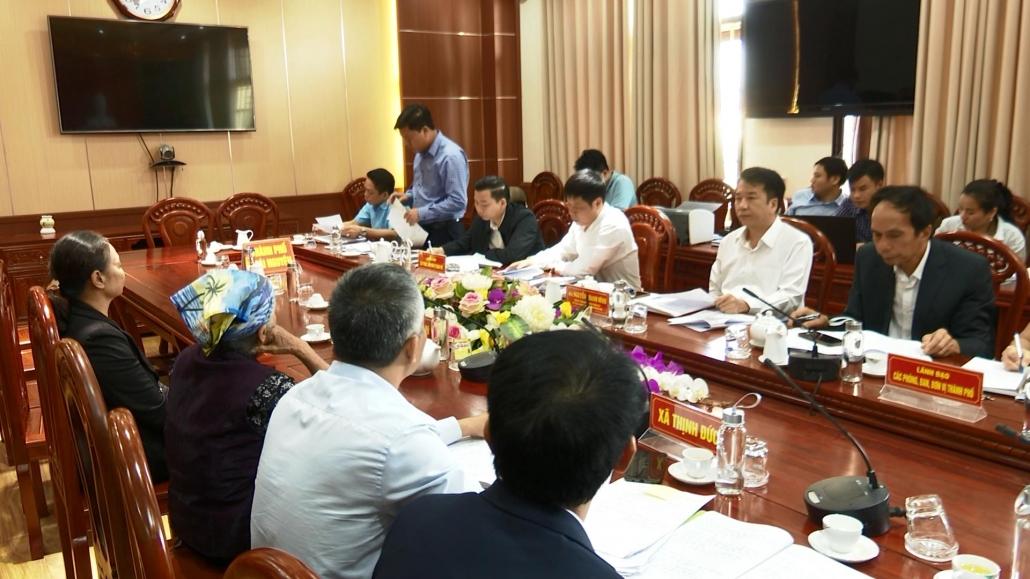 Lãnh đạo UBND thành phố Thái Nguyên tiếp công dân