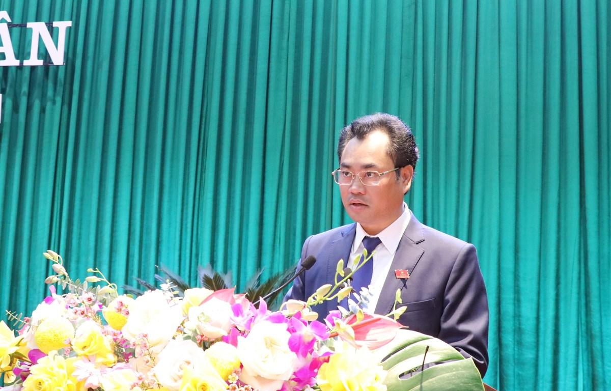 Ông Trịnh Việt Hùng, Chủ tịch UBND tỉnh Thái Nguyên nhiệm kỳ 2016 - 2021. (Ảnh: Hoàng Nguyên/TTXVN)