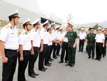 Thượng tướng Lương Cường kiểm tra tại Bộ Tư lệnh Vùng 4 (Quân chủng Hải quân)