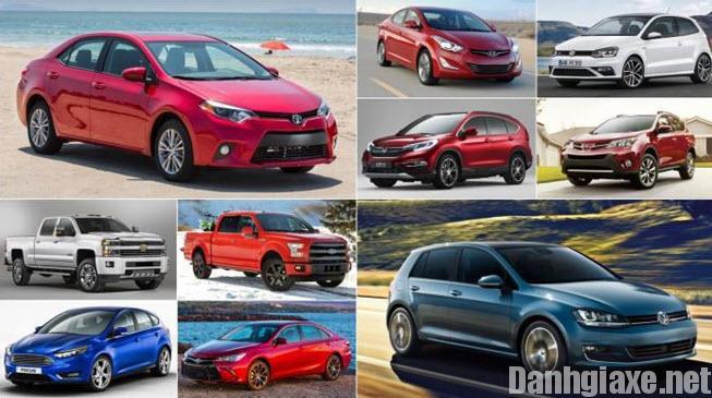 Top 10 xe ô tô bán chạy nhất Việt Nam 2016 được người dùng yêu thích