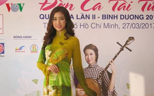 hoa hau my linh lam guong mat dai dien cho festival don ca tai tu