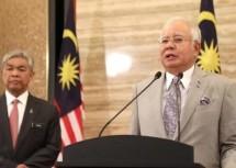thu tuong malaysia tuyen bo giai tan quoc hoi
