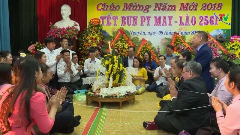 Thái Nguyên: Tổ chức đón Tết cổ truyền cho sinh viên Lào