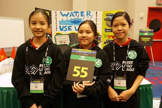 hoc sinh viet gianh giai cao nhat cuoc thi first lego league 2018