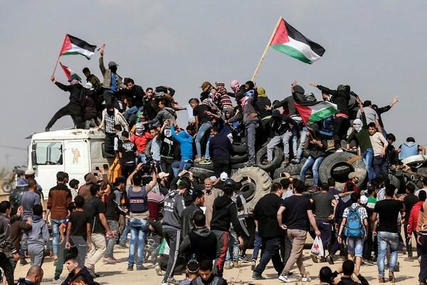 palestine keu goi bieu tinh lon chong israel tai gaza va khu bo tay
