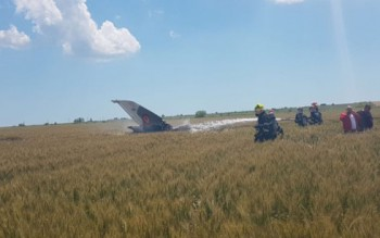 Rơi máy bay chiến đấu MIG 21 ở Romania