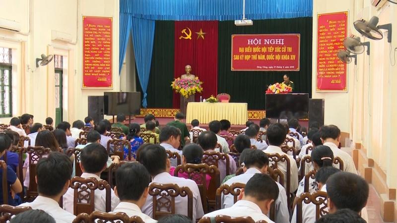 Đại biểu Quốc hội tỉnh tiếp xúc cử tri tại các địa phương