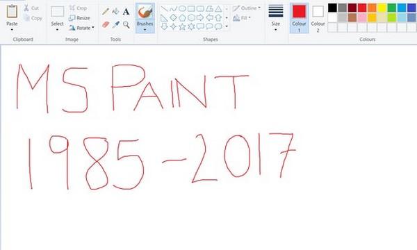 phan mem ve tranh paint se bi microsoft khai tu sau 32 nam