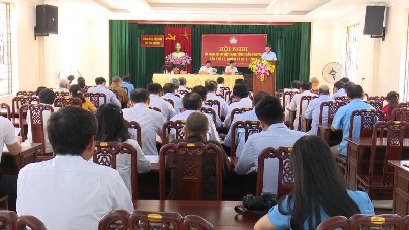 hoi nghi uy ban mat tran to quoc tinh thai nguyen lan thu 12 nhiem ky 2014 2019
