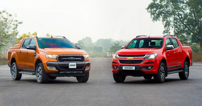 ford ranger het hang chevrolet colorado len ngoi