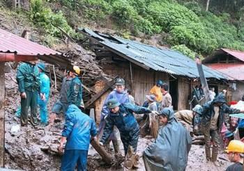 6 người chết, 5 người mất tích vì sạt lở đất ở Lai Châu