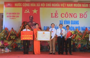 Vĩnh Giang đón nhận danh hiệu xã đạt chuẩn