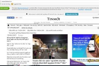 website bao nguoiduatin doisongphapluat techzvn gap su co