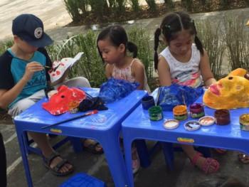 Cùng các em nhỏ đón Tết Trung thu với mặt nạ giấy bồi truyền thống