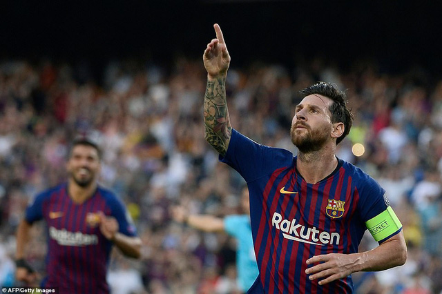 barcelona 4 0 psv eindhoven cu hattrick cua messi