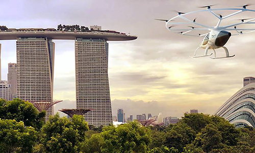 thu nghiem taxi bay cat ha canh thang dung tai singapore