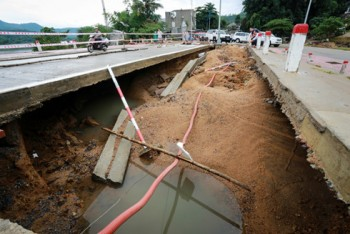 Khẩn trương xử lý sụt trượt nền đường Quốc lộ 1 đoạn qua tỉnh Phú Yên