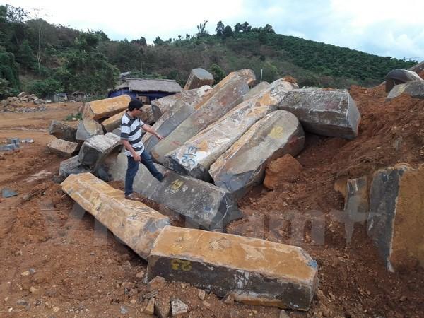 Đắk Nông tịch thu tang vật khai thác đá trái phép tại Gia Nghĩa
