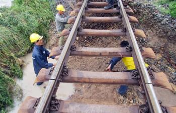 Bão Usagi gây sạt lở, đường sắt Bắc - Nam tê liệt