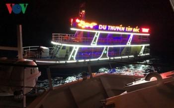 Cứu sống 13 người của du thuyền và tàu cá gặp nạn trên biển