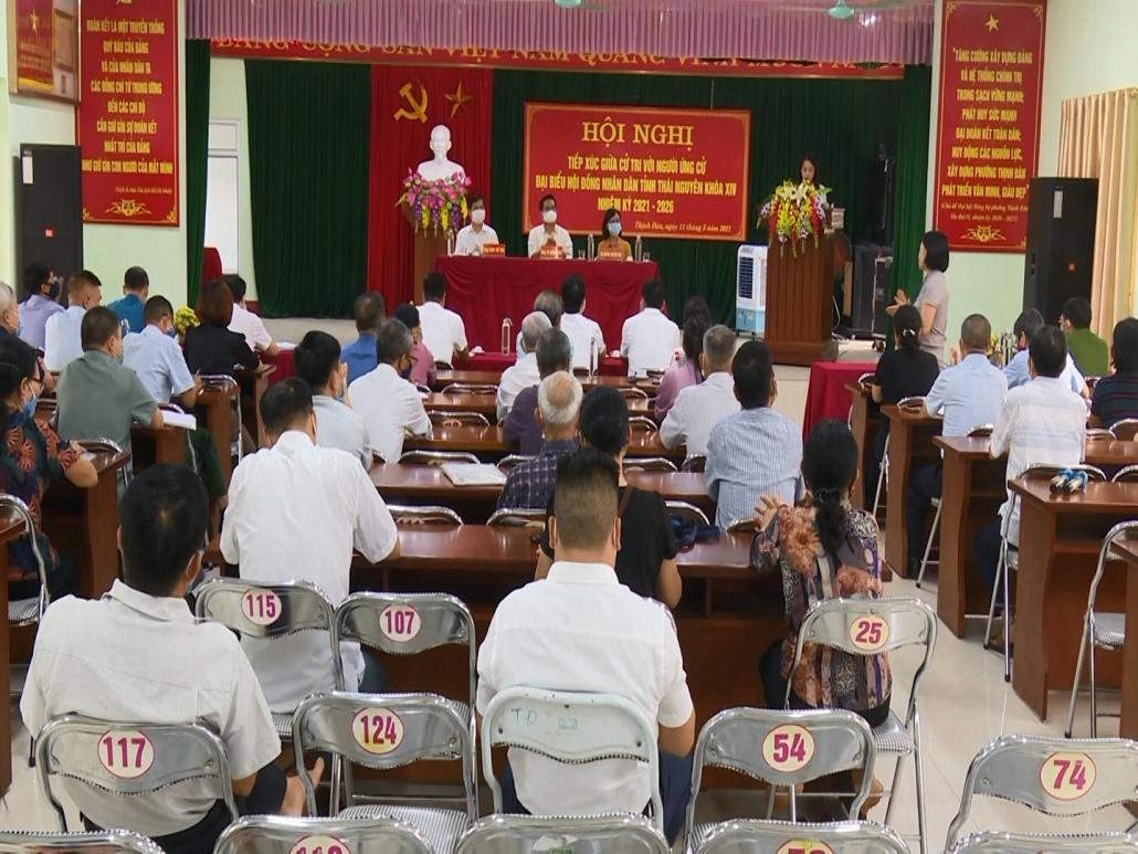 Tiếp xúc cử tri với người ứng cử đại biểu HĐND tỉnh Thái Nguyên khoá XIV, nhiệm kỳ 2021-2026