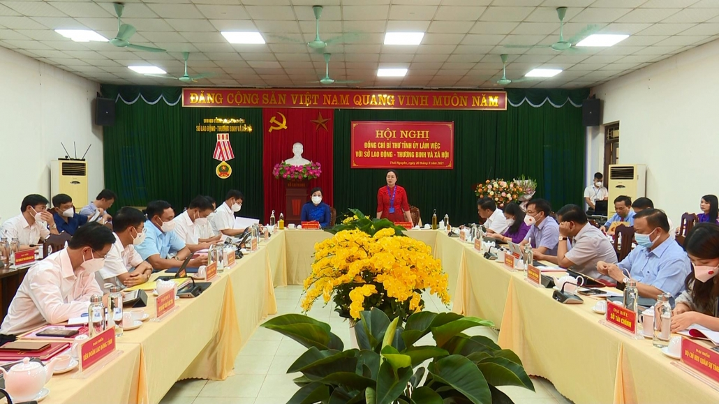 Đồng chí Bí thư Tỉnh ủy làm việc với Sở Lao động, Thương binh và Xã hội