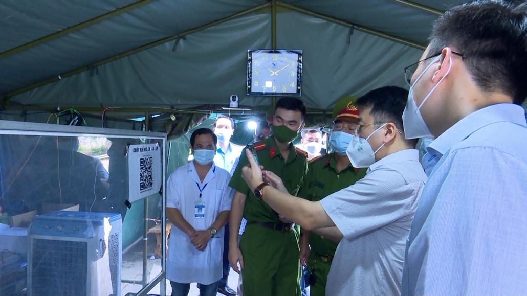 Kiểm tra công tác phòng, chống dịch COVID-19 tại các chốt kiểm dịch
