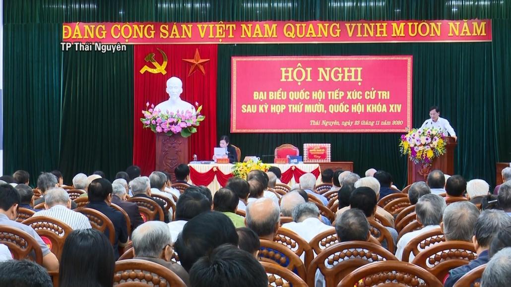 Đại biểu Quốc hội tỉnh Thái Nguyên tiếp xúc cử tri sau Kỳ họp thứ 10, Quốc hội khóa XIV