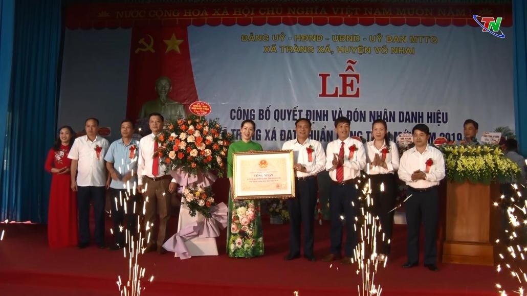 Xã Tràng Xá đón nhận danh hiệu đạt chuẩn nông thôn mới năm 2019