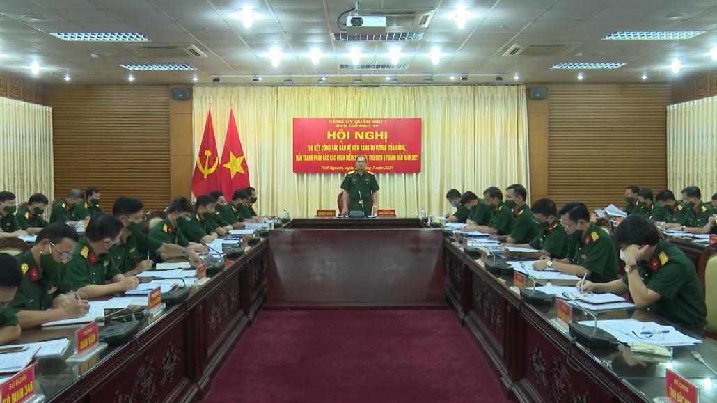 Quân khu 1: Tăng cường đấu tranh bảo vệ nền tảng tư tưởng của Đảng