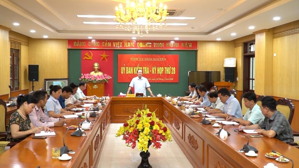 Kết quả Kỳ họp thứ 28 và 29 của Ủy ban kiểm tra Tỉnh ủy
