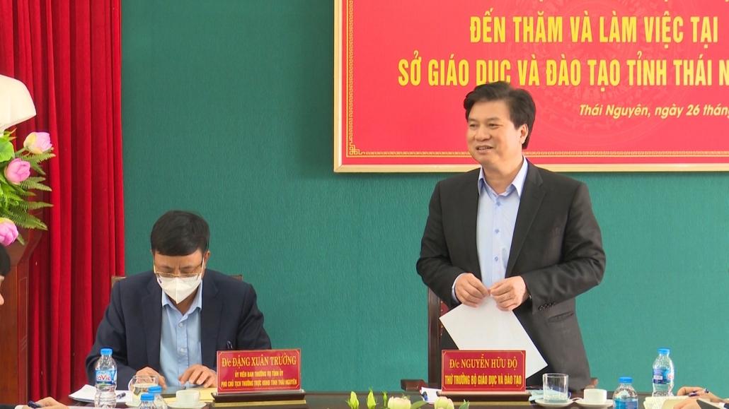 Thứ trưởng Bộ Giáo dục và Đào tạo thăm và làm việc tại Thái Nguyên