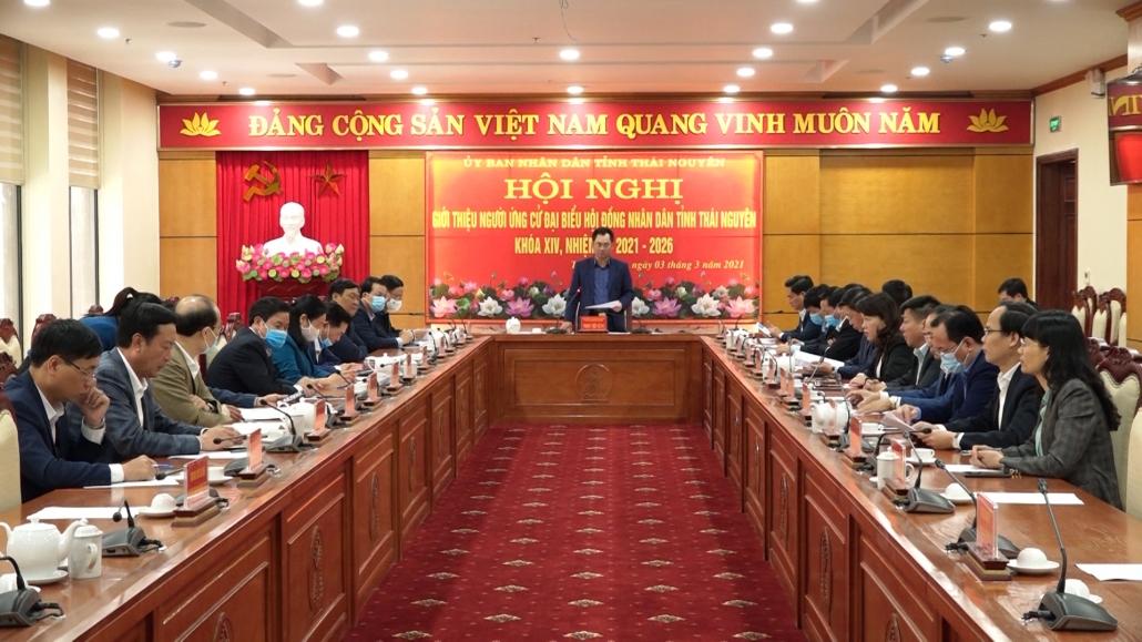 Giới thiệu người ứng cử đại biểu Hội đồng nhân dân tỉnh Thái Nguyên khóa XIV