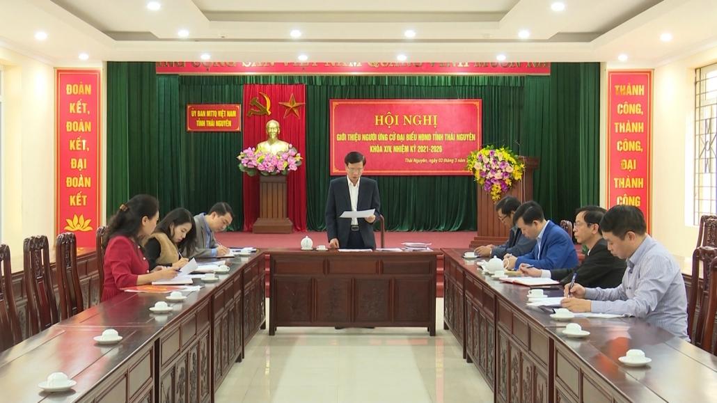 Giới thiệu người ứng cử Đại biểu Hội đồng nhân dân tỉnh khóa XIV