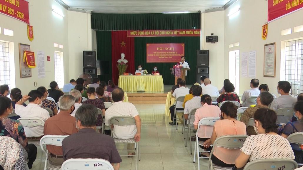 Tiếp xúc cử tri vận động bầu cử đại biểu Hội đồng nhân dân tỉnh khóa XIV, nhiệm kỳ 2021-2026