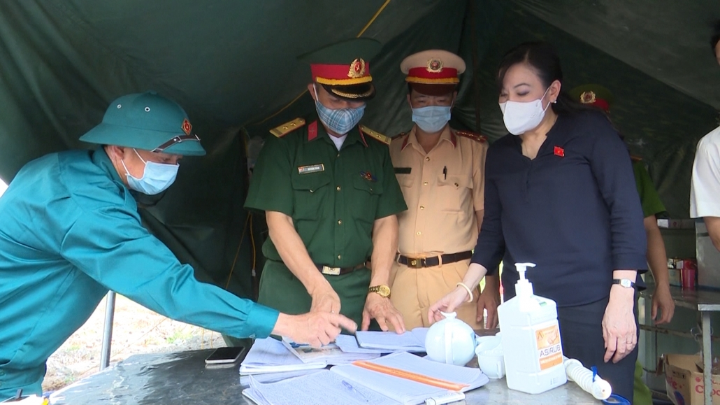 Lãnh đạo tỉnh kiểm tra công tác phòng, chống dịch COVID-19