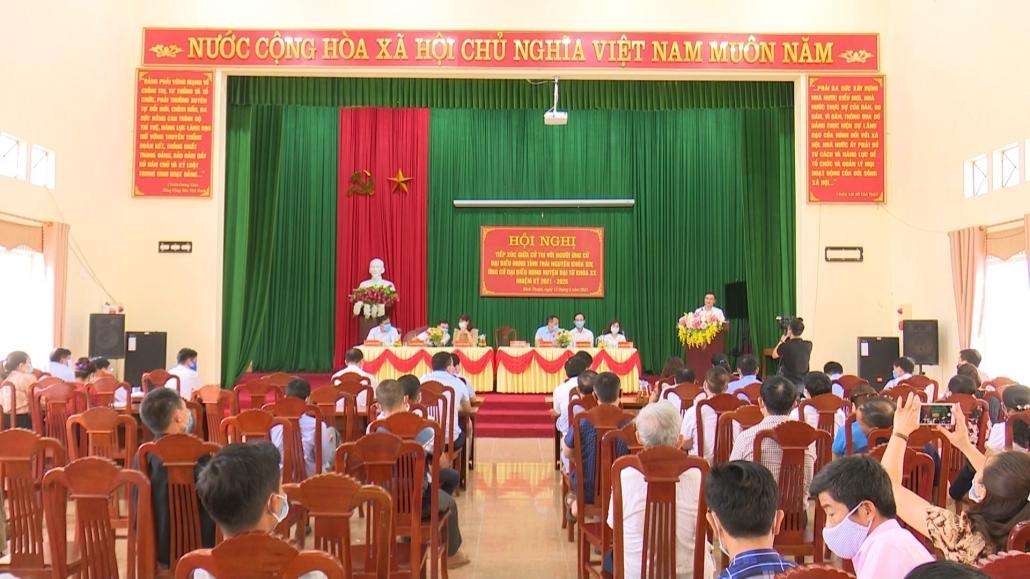 Tiếp xúc giữa ứng cử đại biểu HĐND tỉnh Thái nguyên với cử tri các địa phương