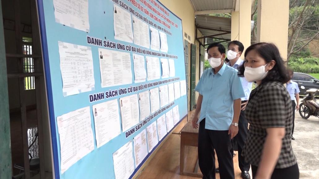 Kiểm tra công tác chuẩn bị bầu cử tại Phú Lương