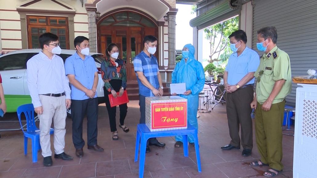 Kiểm tra, động viên các chốt kiểm dịch tại Phú Bình