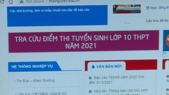 Công bố điểm thi vào lớp 10 năm học 2021 - 2022