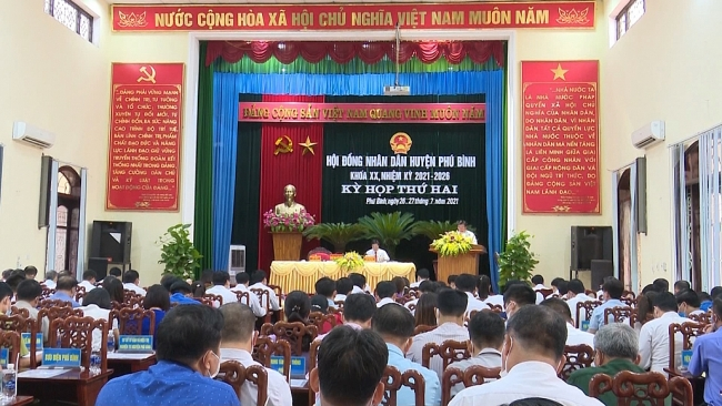 Kỳ họp thứ 2, HĐND huyện Phú Bình khóa XX