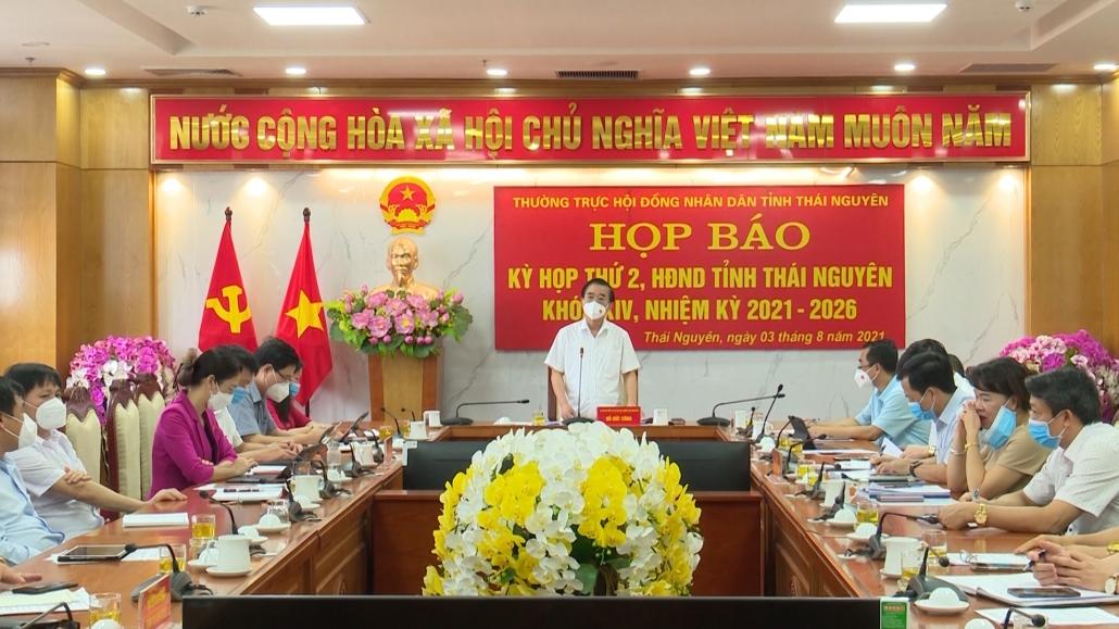 Họp báo Kỳ họp thứ hai, HĐND tỉnh Thái Nguyên khóa XIV