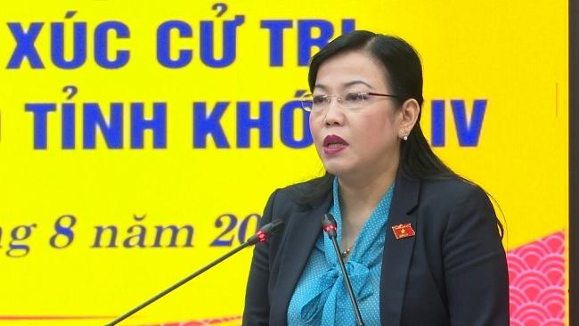 Các đại biểu Quốc hội và Hội đồng nhân dân tỉnh tiếp xúc trực tuyến với cử tri các địa phương