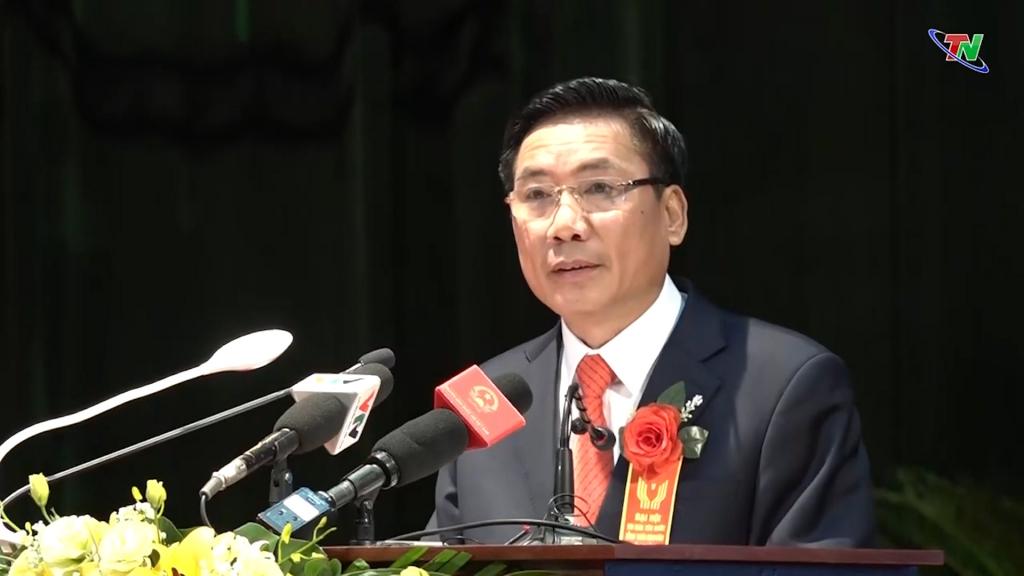 Đồng chí Vũ Hồng Bắc, Chủ tịch UBND tỉnh phát biểu khai mạc Đại hội Thi đua yêu nước tỉnh Thái Nguyên lần thứ V