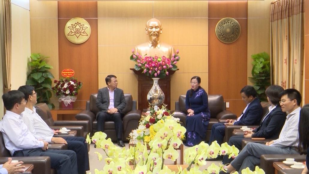 Đồng chí Bí thư Tỉnh ủy tiếp và làm việc với đoàn công tác Kho bạc Nhà nước Việt Nam