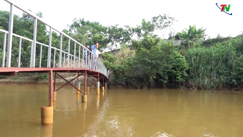 Đã có kết quả đo, phân tích của cơ quan quan trắc môi trường về nguồn nước dẫn vào ao thả cá của gia đình ông Hà Duy Văn