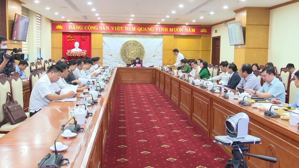Hội nghị Ban Thường vụ Tỉnh ủy lần thứ 20 cho ý kiến vào một số nội dung quan trọng