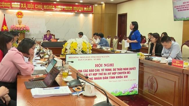 Thẩm tra các báo cáo, tờ trình, dự thảo Nghị quyết trình tại kỳ họp thứ ba, HĐND tỉnh khóa XIV